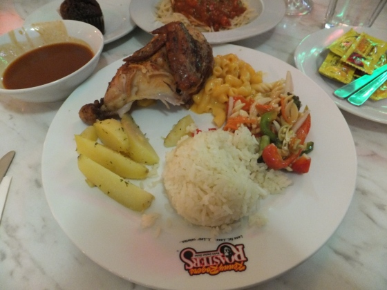 1st Day Dinner at Kenny Rogers Kennys 1/4 Chicken Meal