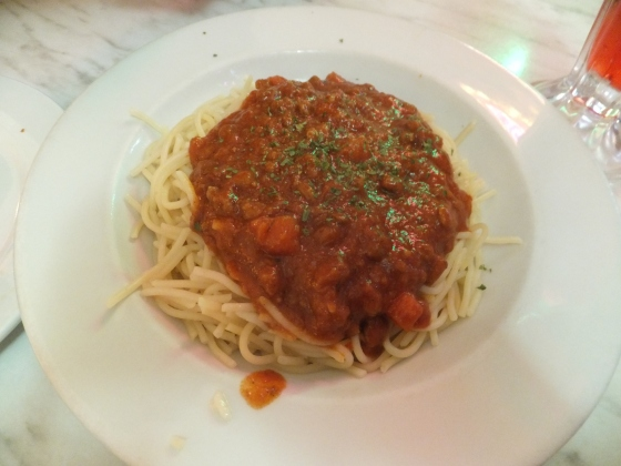 1st Day Dinner at Kenny Rogers Beef Bolognaise