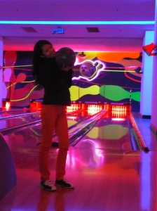 Genting Highland Glow in the Dark Bowling Me with bowl
