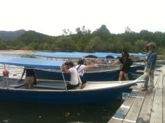 Getting into Boat at Tanjung Rhu Jetty, Langkawi