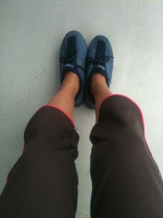 My comfy shoes for Mangrove Tour, Langkawi