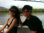 Me & Jeff enjoying the Mangrove Tour in Langkawi