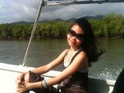 Me enjoying the Mangrove Tour in Langkawi