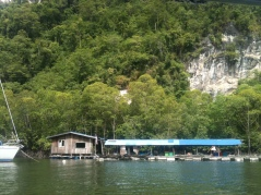 Fishing Village, Langkawi with Limestone Hill in background