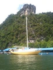 Fishing Village, Langkawi with Gold Yacht