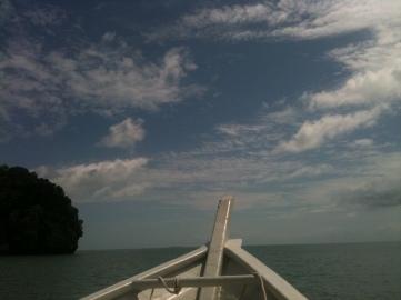 Boating through Andaman Sea, Langkawi
