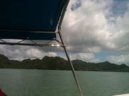 Boating through Andaman Sea, Langkawi,awesome