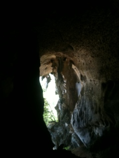 The only entrance and exit of Gua Cerita, Langkawi