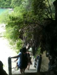 Dangerous stairs at Gua Cerita, Langkawi