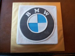 Birthday Boy 22nd BMW Birthday Fondant Cake