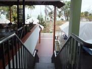 Desaru Damai Beach Resort staircase to swimming pool & beach