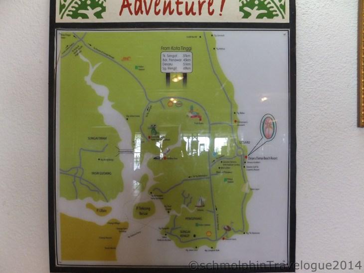 Desaru Damai Beach Resort Map