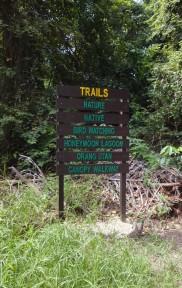 Shangri-La's Rasa Ria Nature Reserve Signboard