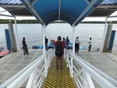 Menumbok Jetty - Boarding Speedboat to Labuan