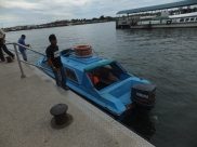 Alighting at Labuan Jetty