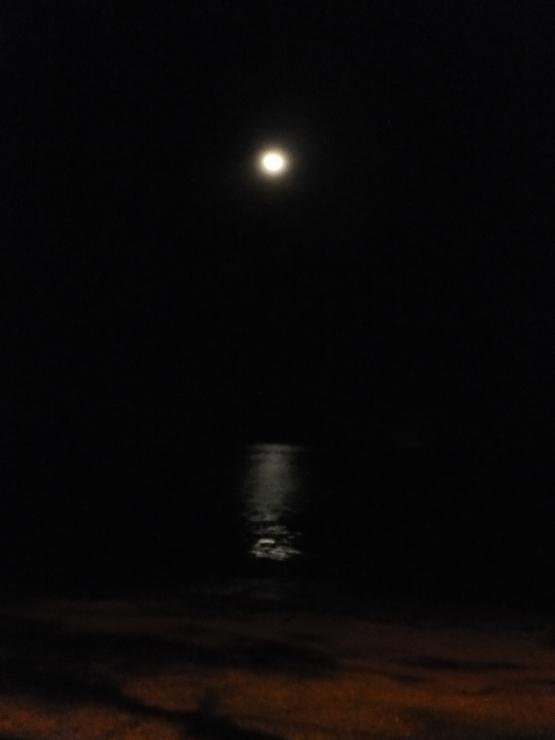 Night Car Ride Exploring Labuan - Full Moon by the Sea