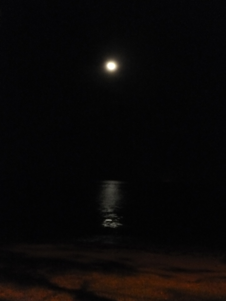 Night Car Ride Exploring Labuan - Full Moon by the Sea