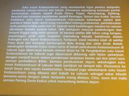 Labuan Muzium - Kadazandusun Background in Malay