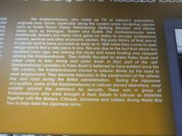 Labuan Muzium - Kadazandusun Background in English