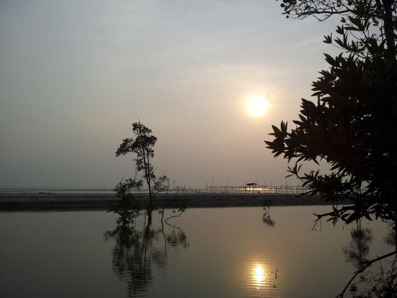Sunset at Pantai Perpat, Johor