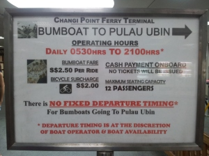 Bumboat Timing to Pulau Ubin
