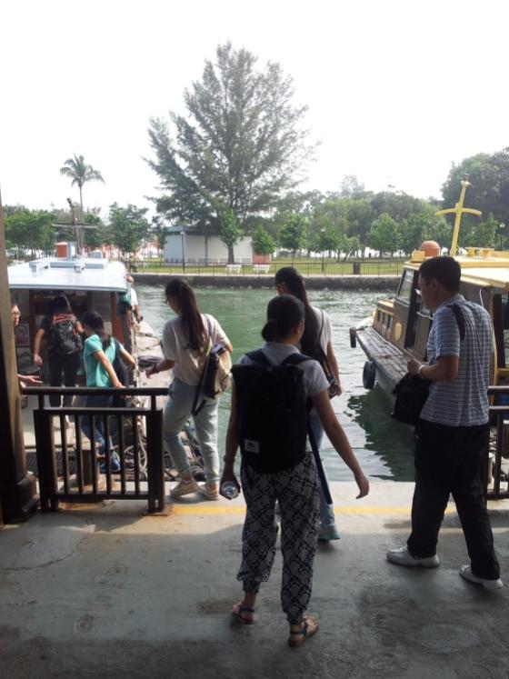 Boarding Bumboat to Pulau Ubin