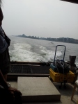 Bumboat back view to Pulau Ubin
