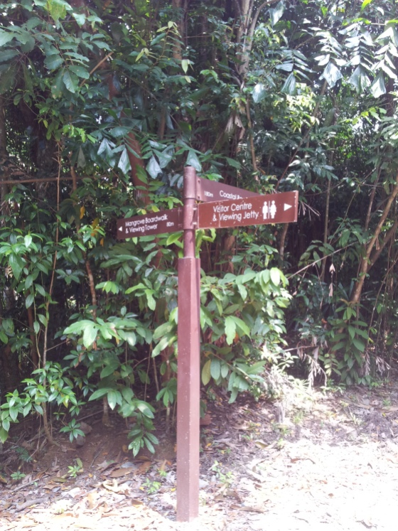 Pulau Ubin Chek Jawa Signboard