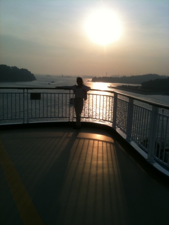 Sunset on board Superstar Virgo Sun Deck
