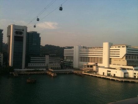 HarbourFront Centre with Cable Car in view