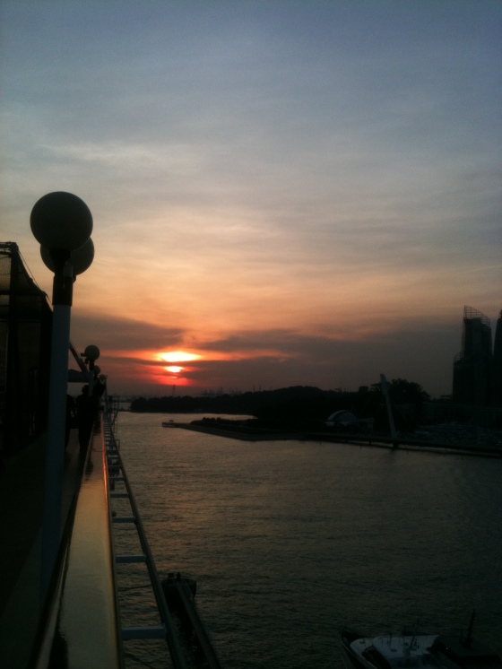 Sunset on board Superstar Virgo