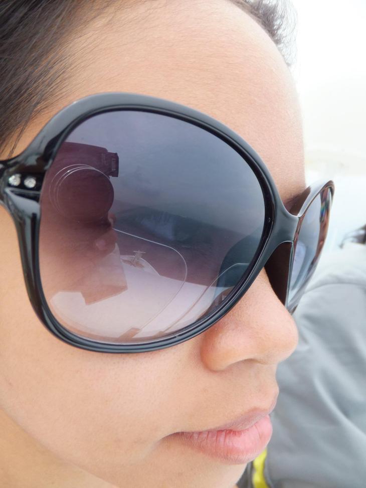 Enjoying the wind at Superstar Virgo Cruise view point