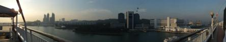 Panoramic View of HarbourFront Centre with Cable Car in view