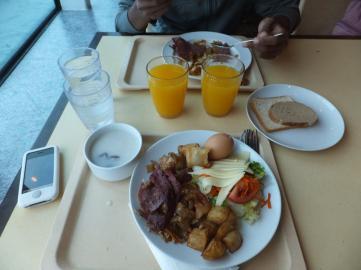 Last day breakfast by the window at Mediterranean Terrace - My breakfast
