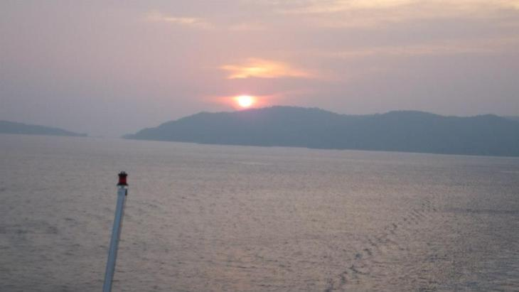 Sunset on board Superstar Virgo Cruise - Close-Up