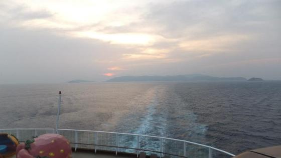 Sunset on board Superstar Virgo Cruise