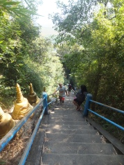 Krabi The Tiger Cave Temple - Almost there! - Encouraging our buddies