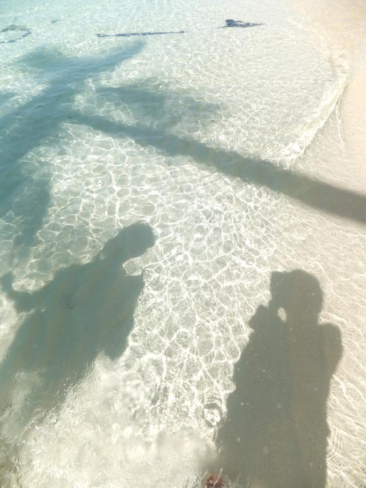 Explore Sabah, Mantabuan Island, Semporna 2014 - Our shadows