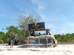 Explore Sabah, Mantabuan Island, Semporna 2014 – Military guy asking to take pics
