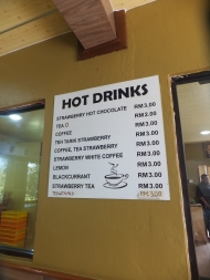 Raju's Hill Strawberry Farm - Strawberry Cafe Drinks Prices