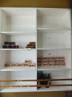 Raju's Hill Strawberry Farm - Strawberry Cafe almost empty shelf