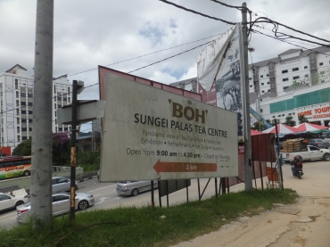 Sungei Palas Boh Tea Centre Big Signboard Visible from Main Road