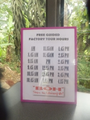 Sungei Palas BOH Tea Centre Factory Tour Hours