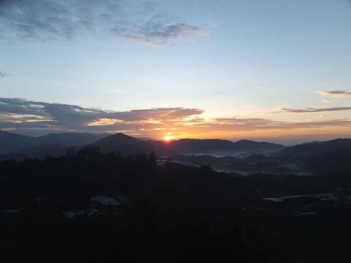 Magnificent Sunrise View from Copthorne Cameron Highland Hotel