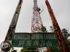 Gunung Lambak 1 day trip hike with Singapore Trekking Group - Reached Summit with Big Sign