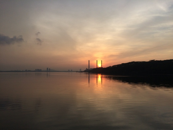 Sunrise view at Woodlands Waterfront