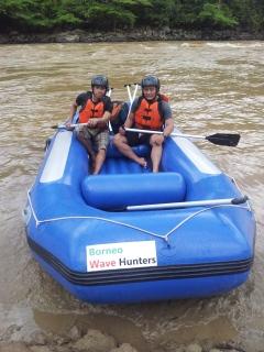 Padas Water Rafting Taking a break 4.11.2014
