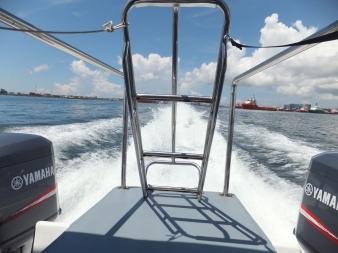 Leaving Labuan Ferry Terminal - Labuan to Sipitang Speedboat