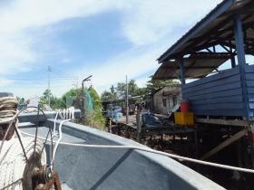 Labuan to Sipitang Speedboat - Arrived Sipitang Terminal - Atap Houses