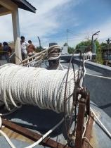 Labuan to Sipitang Speedboat - Arrived Sipitang Terminal - Boat anchor